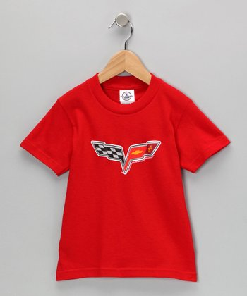 Red C6 Corvette Tee - Kids