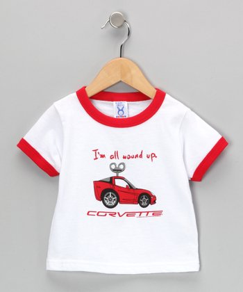 White 'All Wound Up' C6 Corvette Tee - Toddler