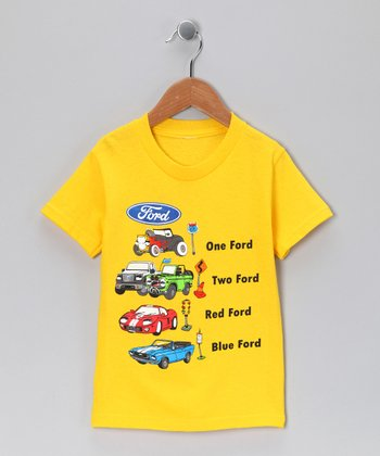 Yellow '1 Ford 2 Ford' Tee - Toddler & Kids