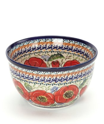 Red Poppy Small Mixing Bowl