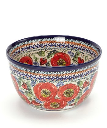Red Poppy Medium Mixing Bowl