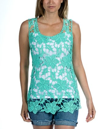 Seafoam Crocheted Tank