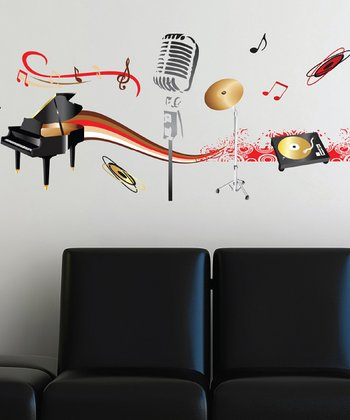 Musical Instruments Wall Decal Set