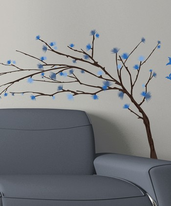 Blue Branch Wall Decal Set