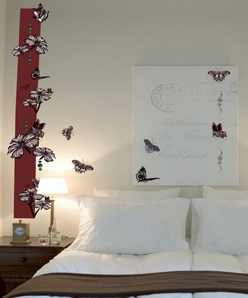 Plum Butterfly Wall Decal Set