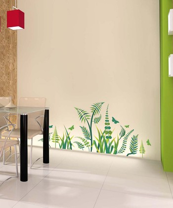 Green Fern Wall Decal Set