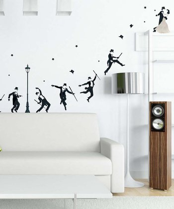 Black Starlight Dancing Wall Decal Set