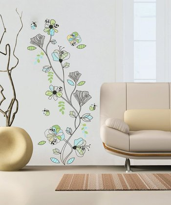 Pattern Flowers Wall Decal Set