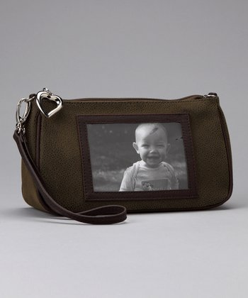 Loden Pebble Grain Mini Cosmetic Bag