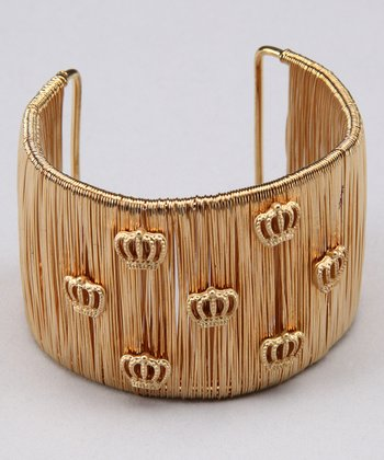 Gold Crown Wire Cuff