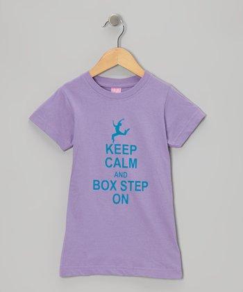 Peanuts & Monkeys Lavender 'Box Step On' Tee - Toddler, Girls & Women