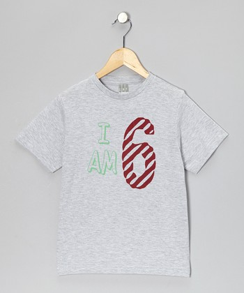 Gray 'I Am 6' Tee - Kids