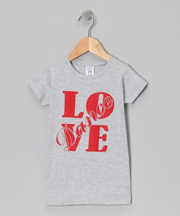 Gray 'Love Dance' Tee - Infant, Toddler & Girls