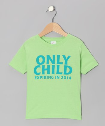 Key Lime 'Only Child 2014' Tee - Infant, Toddler & Boys