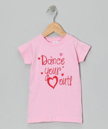 Peanuts & Monkeys Light Pink 'Dance Your Heart Out' Tee - Infant, Toddler & Girls