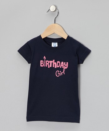 Navy 'Birthday Girl' Tee - Infant, Toddler & Girls