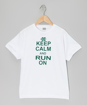 White 'Keep Calm and Run On' Tee - Kids & Adult