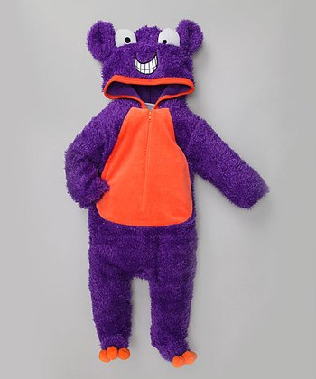 Purple Furry Monster Costume
