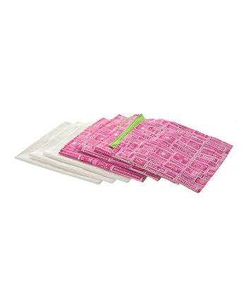 Hot Pink & Green Apple Doll Triple Bunk Bed Linen Set