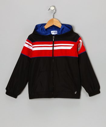 Black Distance Zip-Up Jacket - Boys