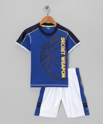 Blue 'Secret Weapon' Tee & Shorts - Boys