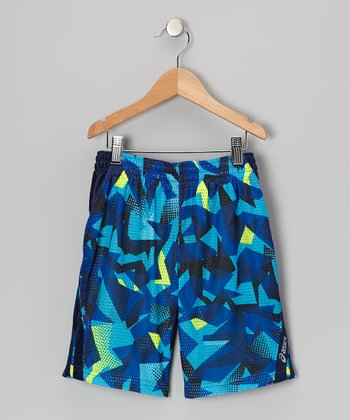 Blue Sublimation Performance Court Shorts