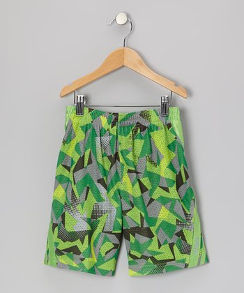 Green Sublimation Performance Court Shorts