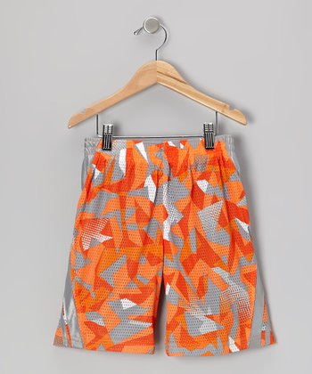 Orange Sublimation Performance Court Shorts