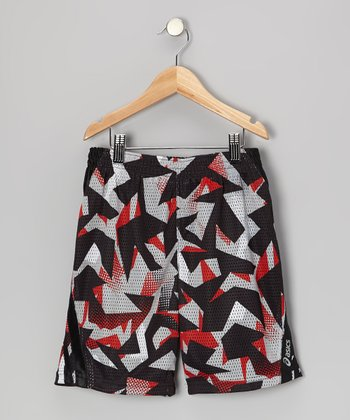 Red Sublimation Performance Court Shorts