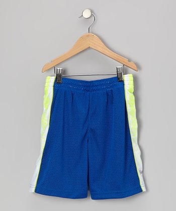Blue Performance Lay-Up Shorts - Boys