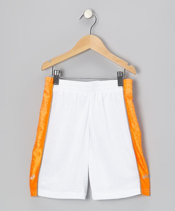 White Performance Lay-Up Shorts - Boys