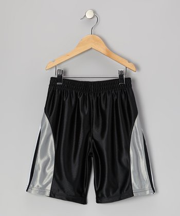 Black Performance Sprint Shorts - Boys