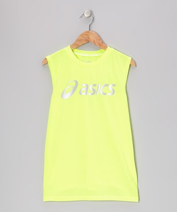 Yellow Performance Training Muscles Tank - Boys