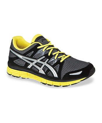 Carbon & Yellow Gel-Blur 33 2.0 GS Running Shoe - Kids