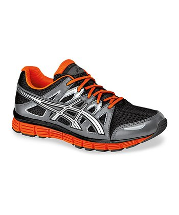 Black & Orange Gel-Blur 33 2.0 GS Running Shoe - Kids