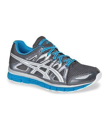 Titanium & Electric Blue Gel-Blur 33 2.0 GS Running Shoe - Boys &