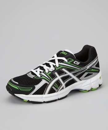 Black & Electric Apple GT-1000 GS Running Shoe - Boys