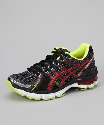 Black & Red GEL-Kayano 19 GS Running Shoe - Boys