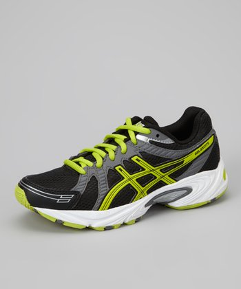 Black & Lime Gel-Excite GS Wide Running Shoe