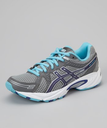 Lightning & Turquoise GEL-Excite GS Wide Running Shoe - Girls