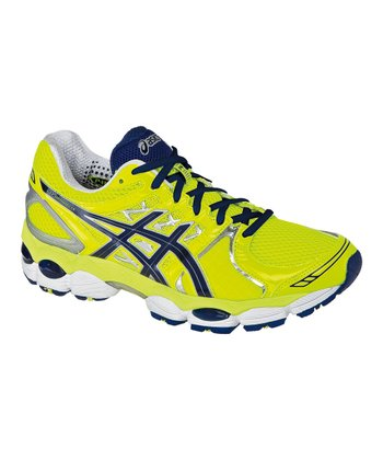 Neon Yellow & Navy GEL-Nimbus14 Running Shoe - Men