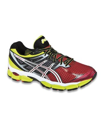 Red & Lime GEL-Cumulus14 Running Shoe - Men