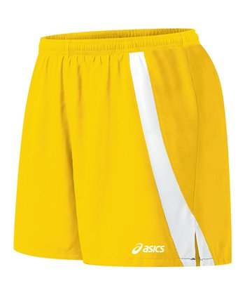 Gold & White Intensity Shorts - Women