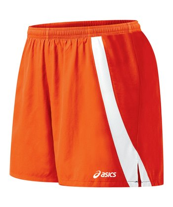 Orange & White Intensity Shorts - Women