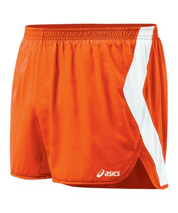 Orange & White Intensity Split Shorts - Women
