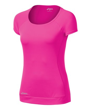 Pink Glo Favorite Scoop Neck Tee