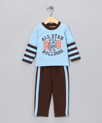 Blue Bulldog Layered Tee & Pants - Infant