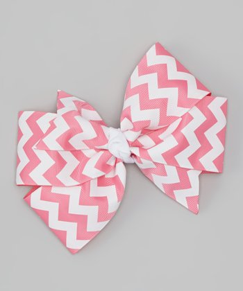 Hot Pink Zigzag Boutique Clip