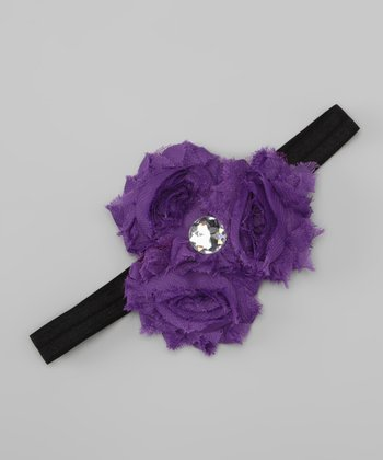 Purple Rosette Trio Headband