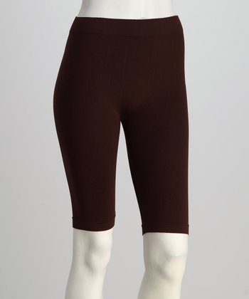 Brown Bike Shorts Set - Women